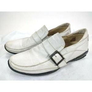 TARYN ROSE MENS SHOES SIZE 42 US 9.5 WHITE LOAFERS